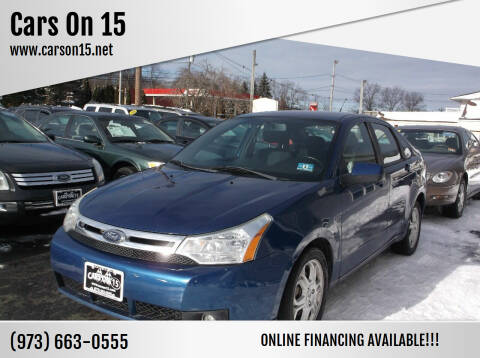 2009 Ford Focus for sale at Cars On 15 in Lake Hopatcong NJ