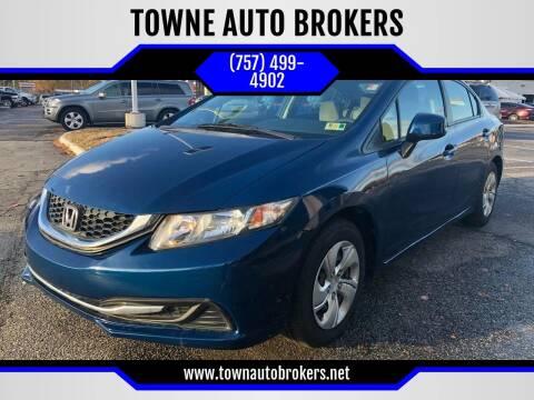 2013 Honda Civic for sale at TOWNE AUTO BROKERS in Virginia Beach VA