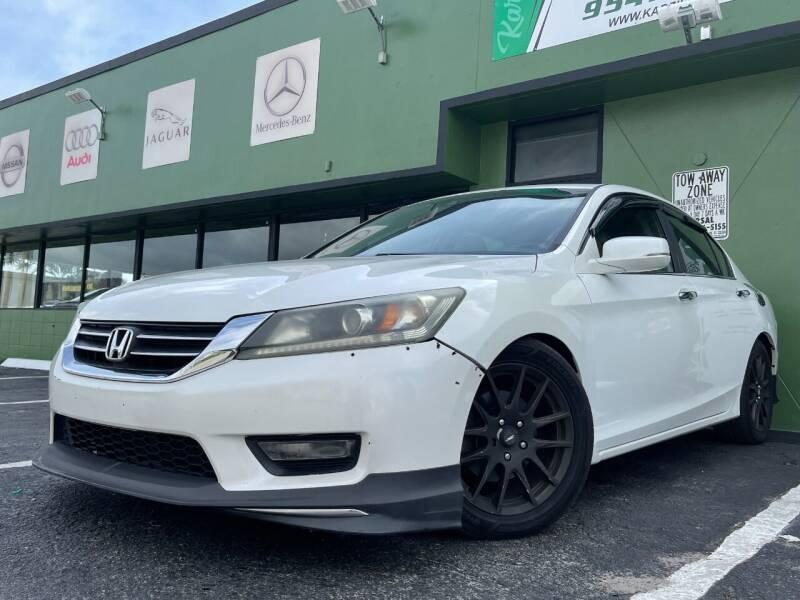 2014 Honda Accord for sale at KARZILLA MOTORS in Oakland Park FL