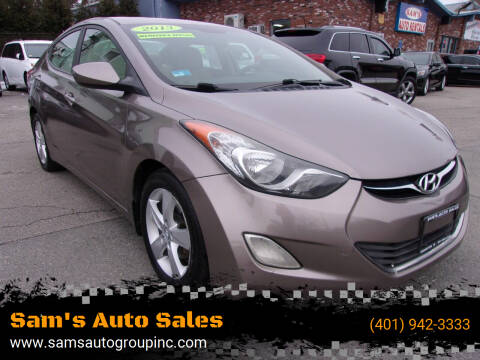 2013 Hyundai Elantra for sale at Sam's Auto Sales in Cranston RI
