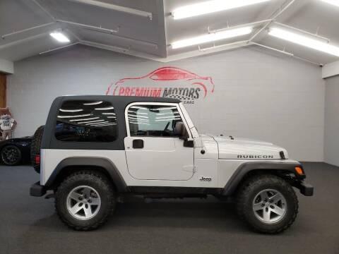 2003 Jeep Wrangler for sale at Premium Motors in Villa Park IL