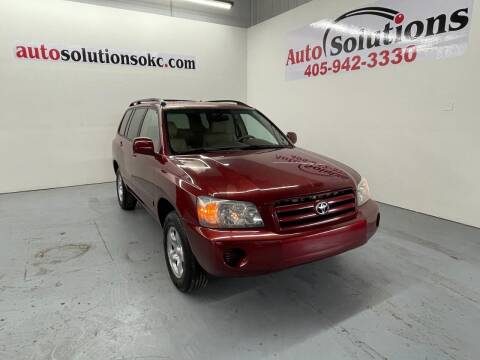 2004 Toyota Highlander for sale at Auto Solutions in Warr Acres OK