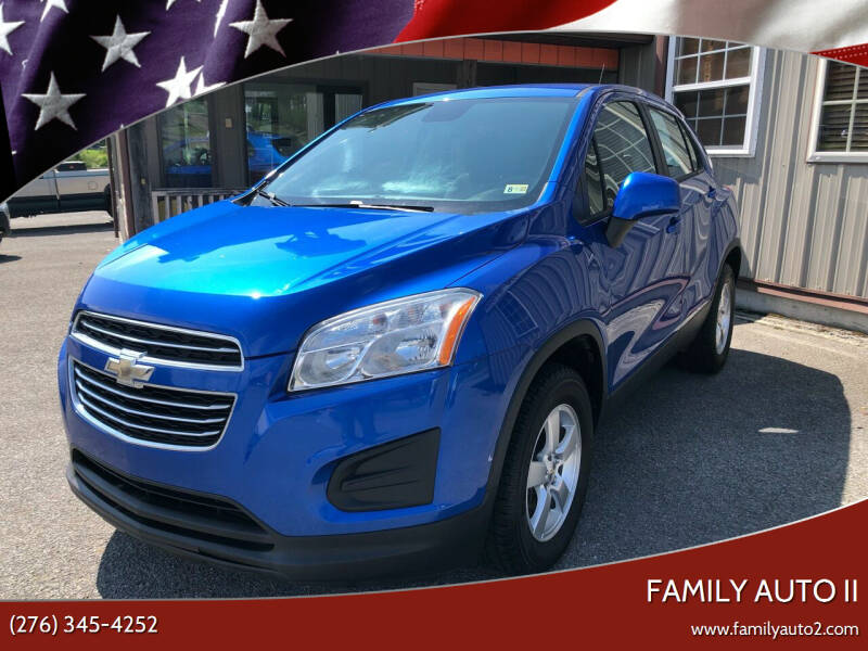 2016 Chevrolet Trax for sale at FAMILY AUTO II in Pounding Mill VA