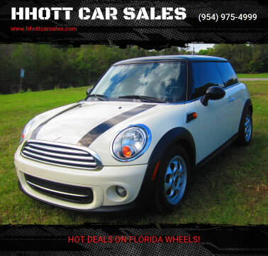 2012 MINI Cooper Hardtop for sale at HHOTT CAR SALES in Deerfield Beach FL
