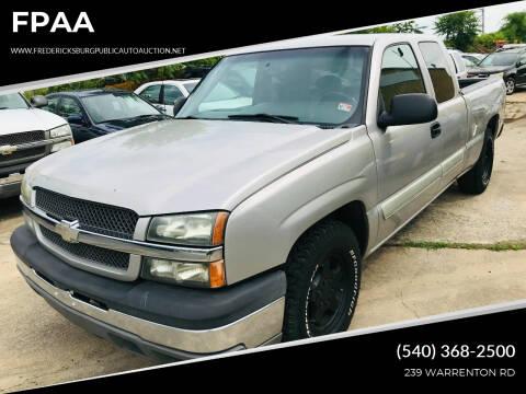 2004 Chevrolet Silverado 1500 for sale at FPAA in Fredericksburg VA
