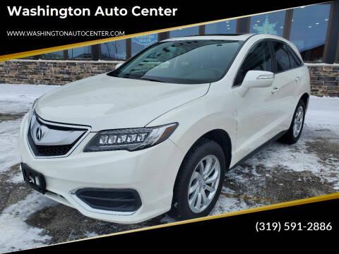 2018 Acura RDX for sale at Washington Auto Center in Washington IA