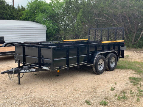 2016 FALCON 14' TANDEM V-PANEL for sale at Trophy Trailers in New Braunfels TX
