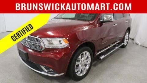 2018 Dodge Durango for sale at Brunswick Auto Mart in Brunswick OH