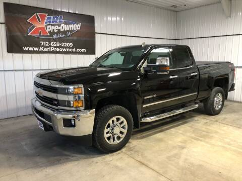 2015 Chevrolet Silverado 2500HD for sale at Karl Pre-Owned in Glidden IA