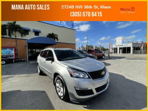 2015 Chevrolet Traverse for sale at MANA AUTO SALES in Miami FL