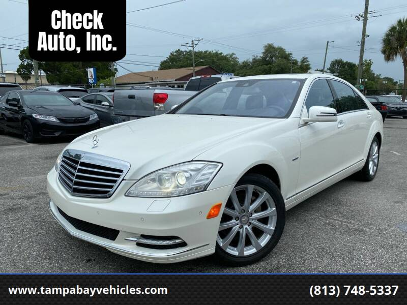2011 Mercedes-Benz S-Class for sale at CHECK AUTO, INC. in Tampa FL