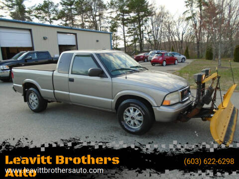 2002 GMC Sonoma for sale at Leavitt Brothers Auto in Hooksett NH