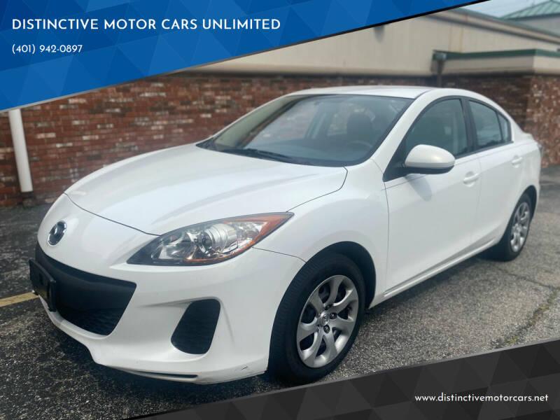 2013 Mazda MAZDA3 for sale at DISTINCTIVE MOTOR CARS UNLIMITED in Johnston RI