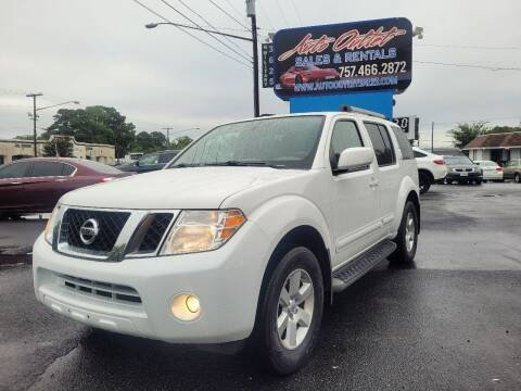 2012 Nissan Pathfinder for sale at Auto Outlet Sales and Rentals in Norfolk VA