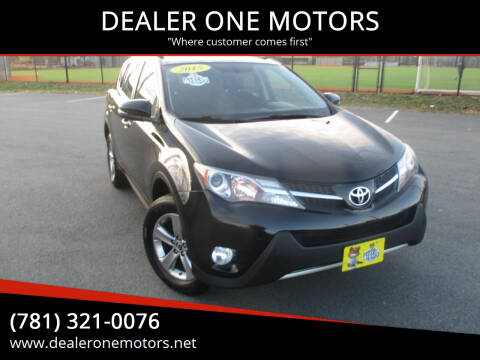 2015 Toyota RAV4 for sale at DEALER ONE MOTORS in Malden MA