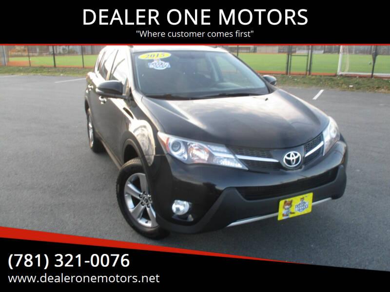 2015 Toyota RAV4 for sale at DEALER ONE MOTORS in Malden MA