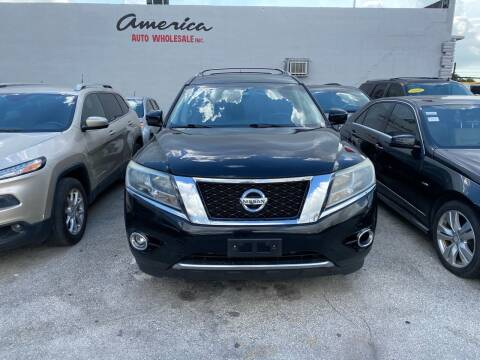 2013 Nissan Pathfinder for sale at America Auto Wholesale Inc in Miami FL