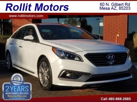 2015 Hyundai Sonata for sale at Rollit Motors in Mesa AZ