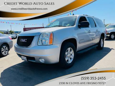 2013 GMC Yukon XL for sale at Credit World Auto Sales in Fresno CA