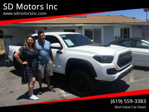 2017 Toyota Tacoma for sale at SD Motors Inc in La Mesa CA