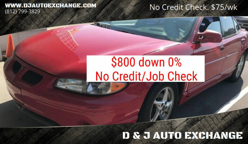 2000 Pontiac Grand Prix for sale at D & J AUTO EXCHANGE in Columbus IN