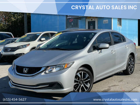 2014 Honda Civic for sale at Crystal Auto Sales Inc in Nashville TN