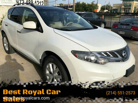2013 Nissan Murano for sale at Best Royal Car Sales in Dallas TX