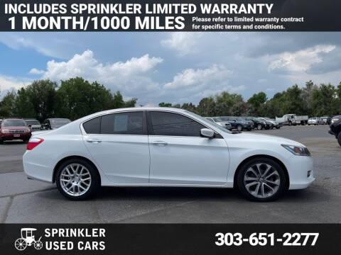 2014 Honda Accord for sale at Sprinkler Used Cars in Longmont CO