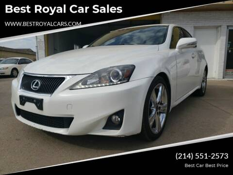 2011 Lexus IS 250 for sale at Best Royal Car Sales in Dallas TX