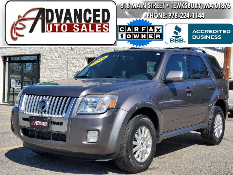 2010 Mercury Mariner for sale at Advanced Auto Sales in Tewksbury MA