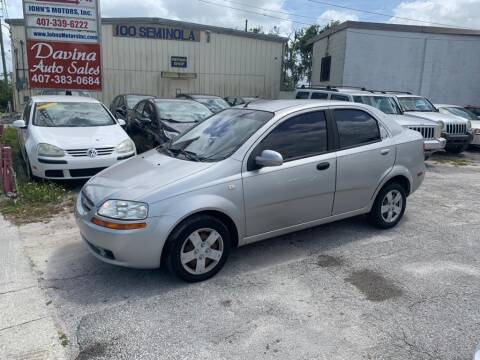 2006 Chevrolet Aveo for sale at DAVINA AUTO SALES in Orlando FL