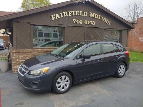 2014 Subaru Impreza for sale at Fairfield Motors in Fort Wayne IN