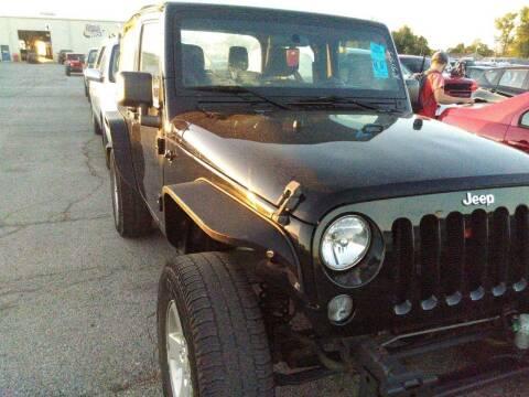 2014 Jeep Wrangler for sale at WENTZVILLE MOTORS in Wentzville MO