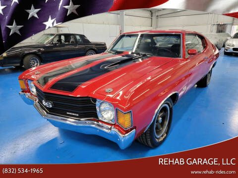 1972 Chevrolet Chevelle for sale at Rehab Garage, LLC in Tomball TX