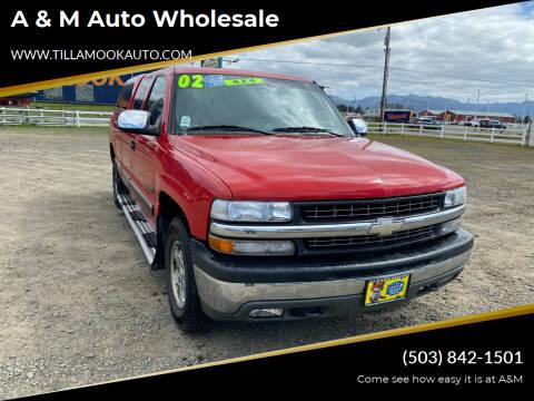 2002 Chevrolet Silverado 1500 for sale at A & M Auto Wholesale in Tillamook OR