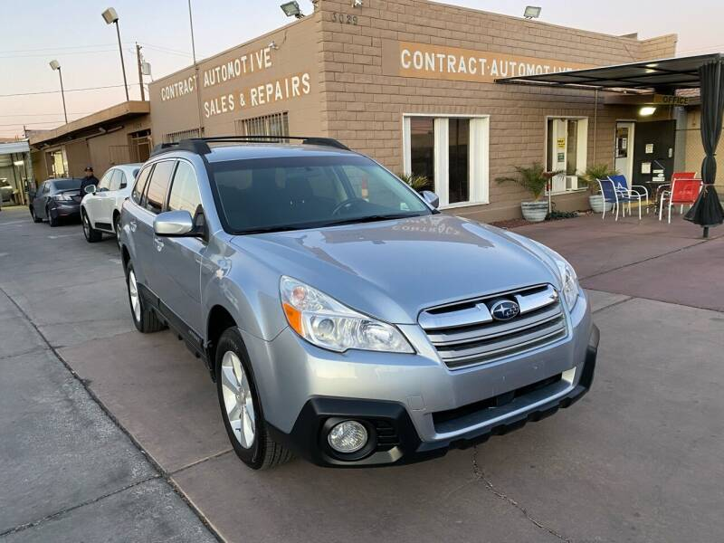 2013 Subaru Outback for sale at CONTRACT AUTOMOTIVE in Las Vegas NV