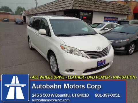 2013 Toyota Sienna for sale at Autobahn Motors Corp in Bountiful UT