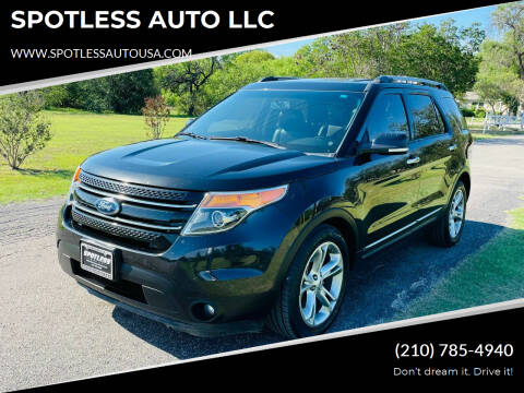 2015 Ford Explorer for sale at SPOTLESS AUTO LLC in San Antonio TX