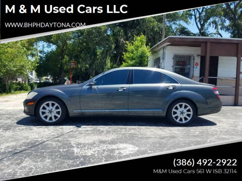 2007 Mercedes-Benz S-Class for sale at M & M Used Cars LLC in Daytona Beach FL