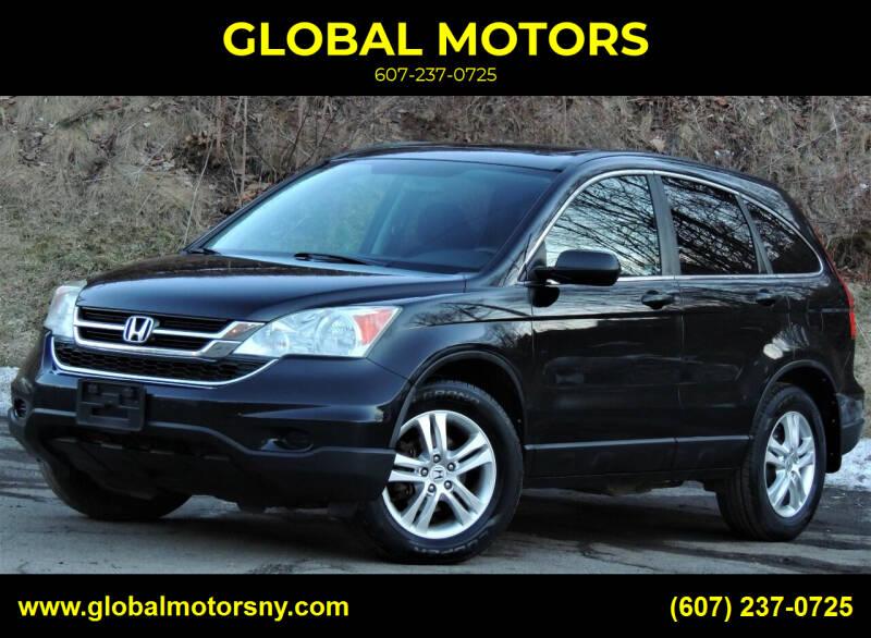 2010 Honda CR-V for sale at GLOBAL MOTORS in Binghamton NY