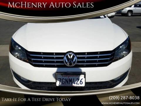 2014 Volkswagen Passat for sale at MCHENRY AUTO SALES in Modesto CA