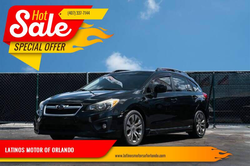 2014 Subaru Impreza for sale at LATINOS MOTOR OF ORLANDO in Orlando FL