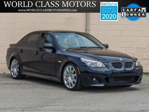 2008 BMW 5 Series for sale at World Class Motors LLC in Noblesville IN