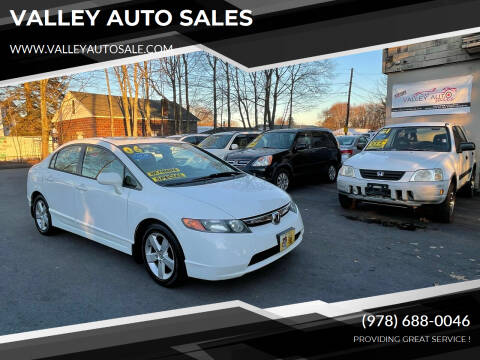 2006 Honda Civic for sale at VALLEY AUTO SALES in Methuen MA