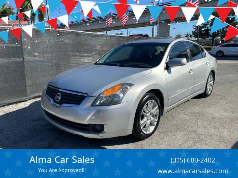 2009 Nissan Altima for sale at Alma Car Sales in Miami FL