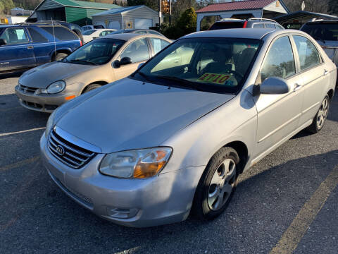 2008 Kia Spectra for sale at BURNWORTH AUTO INC in Windber PA