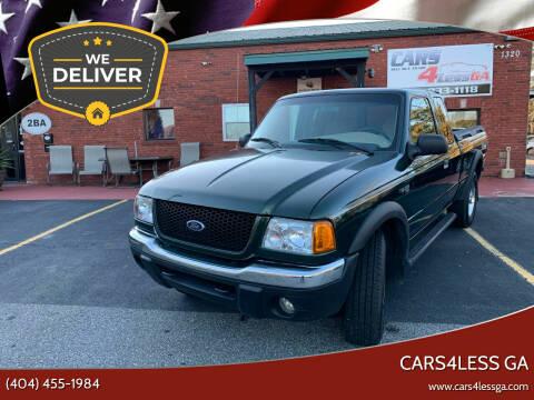 2001 Ford Ranger for sale at Cars4Less GA in Alpharetta GA