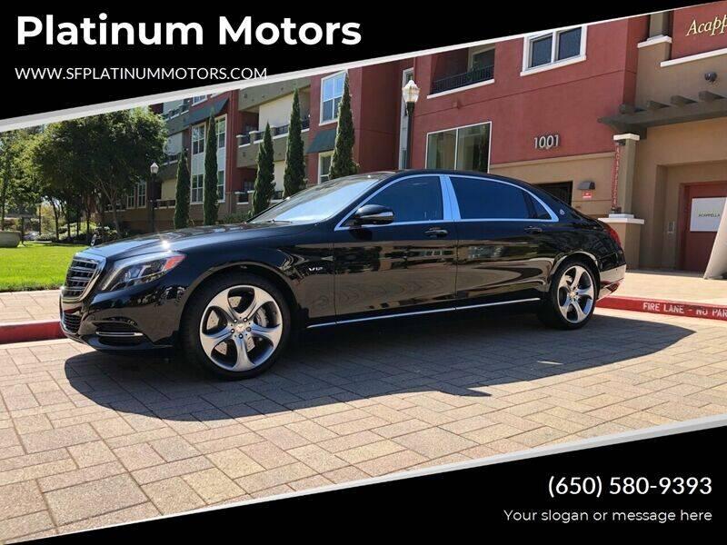 2016 Mercedes-Benz S-Class for sale at Platinum Motors in San Bruno CA