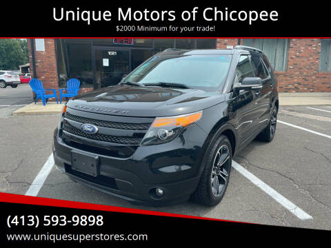 2015 Ford Explorer for sale at Unique Motors of Chicopee in Chicopee MA