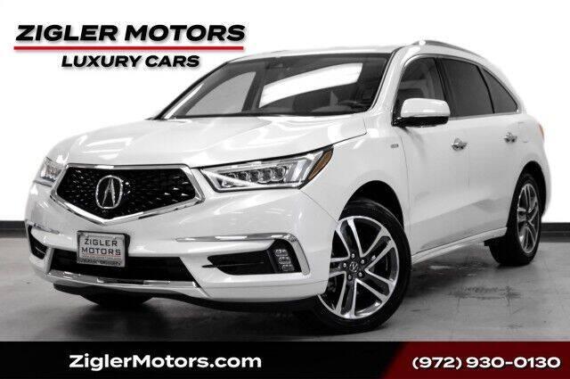 2018 Acura MDX for sale at Zigler Motors in Addison TX